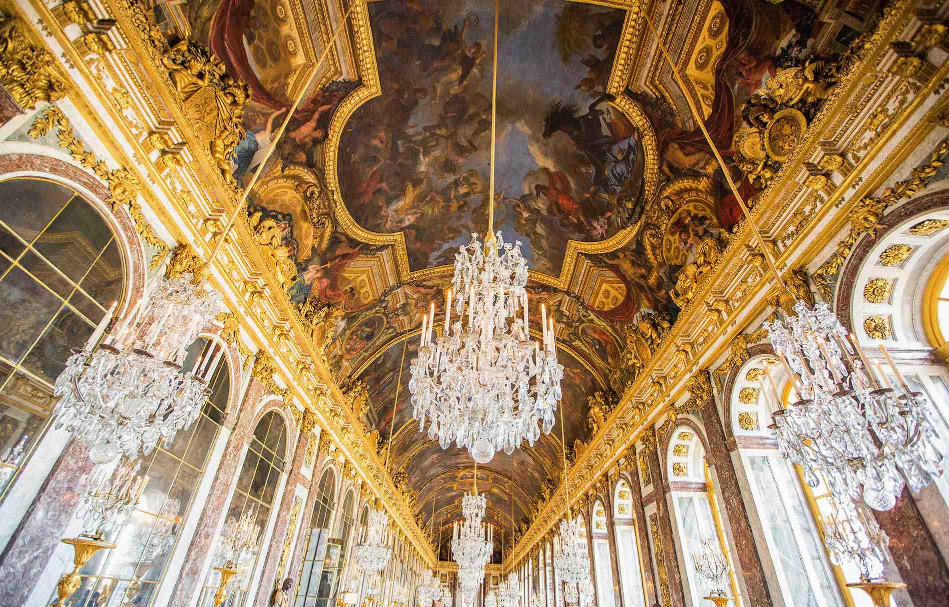 France Paris Versailles Ceiling