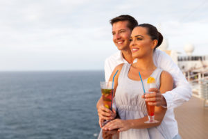 cute young couple on cruise trip
