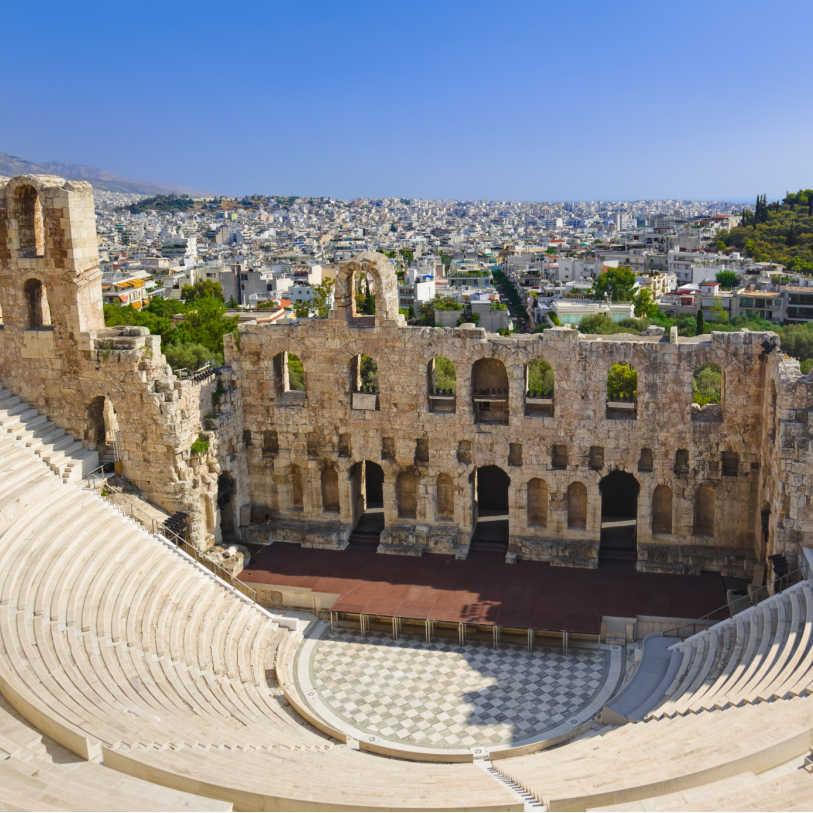 Greece Athens Odeon Theatre