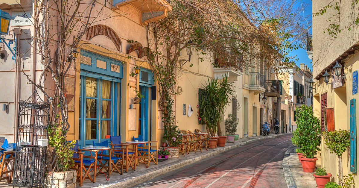 Greece Athens Plaka District Shops Houses