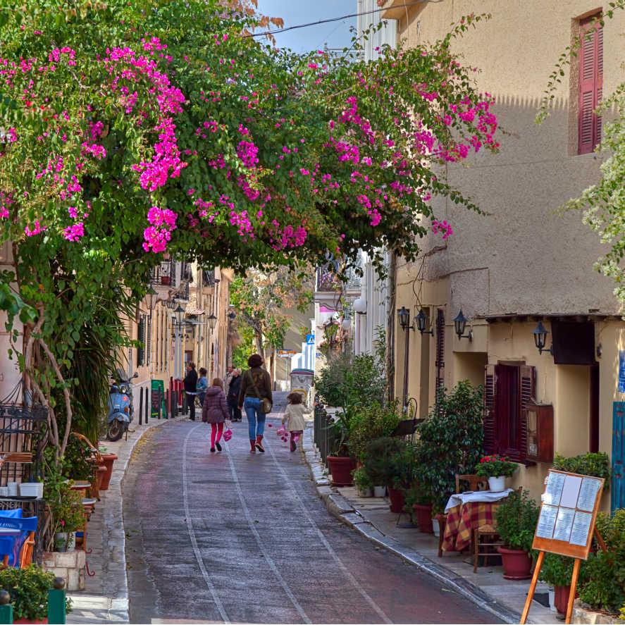 Greece Athens Plaka District Street