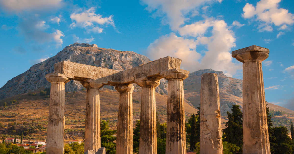 Greece Corinth Ruins Temple Apollo2