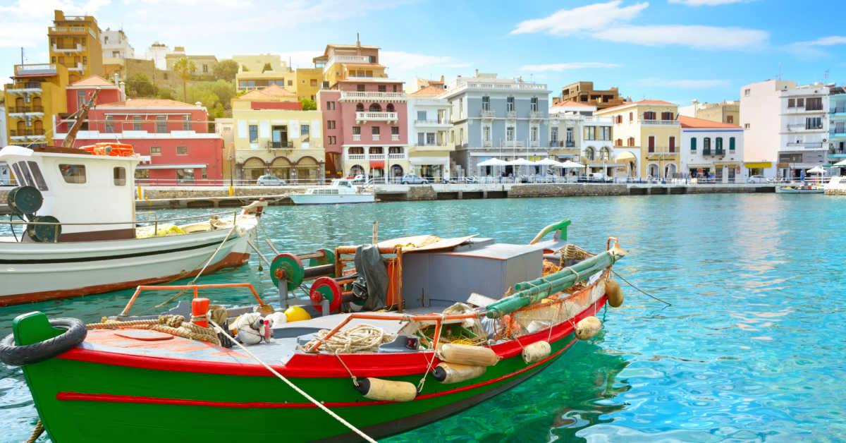 Greece Crete Agios Niklaos Boat