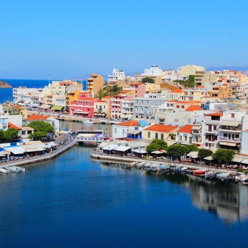Greece Crete Aios Nikolaos Town