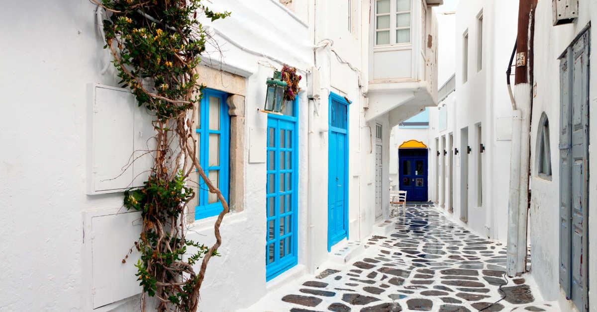 Greece Mykonos Alley Walkway