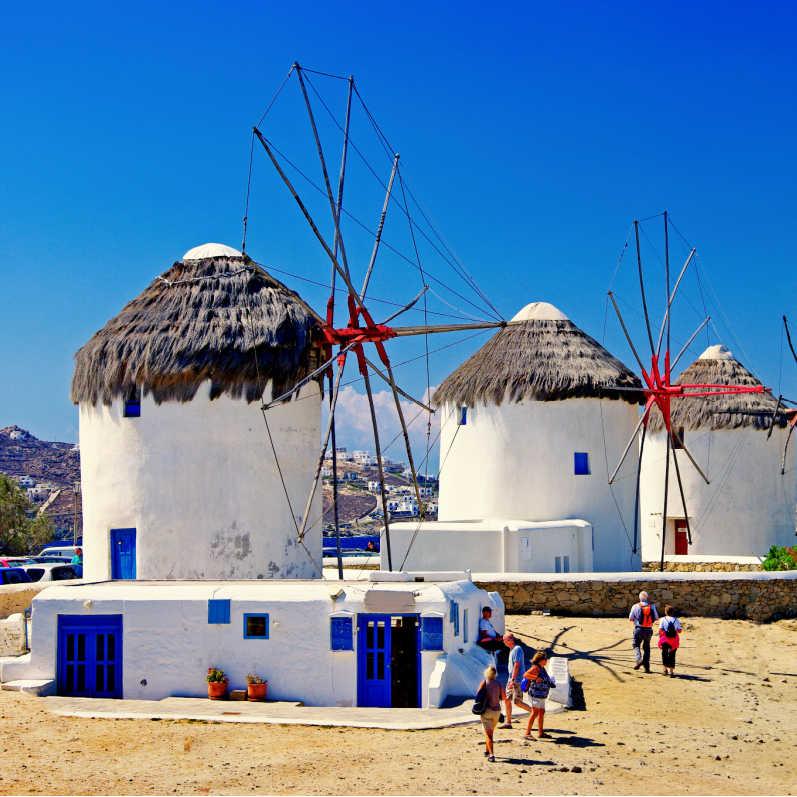 Greece Mykonos Windmills