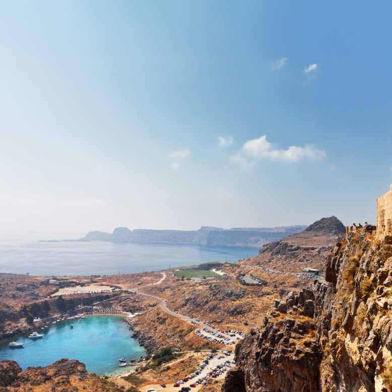 Greece Rhodes Acropolis of Lindos to St Paul Bay