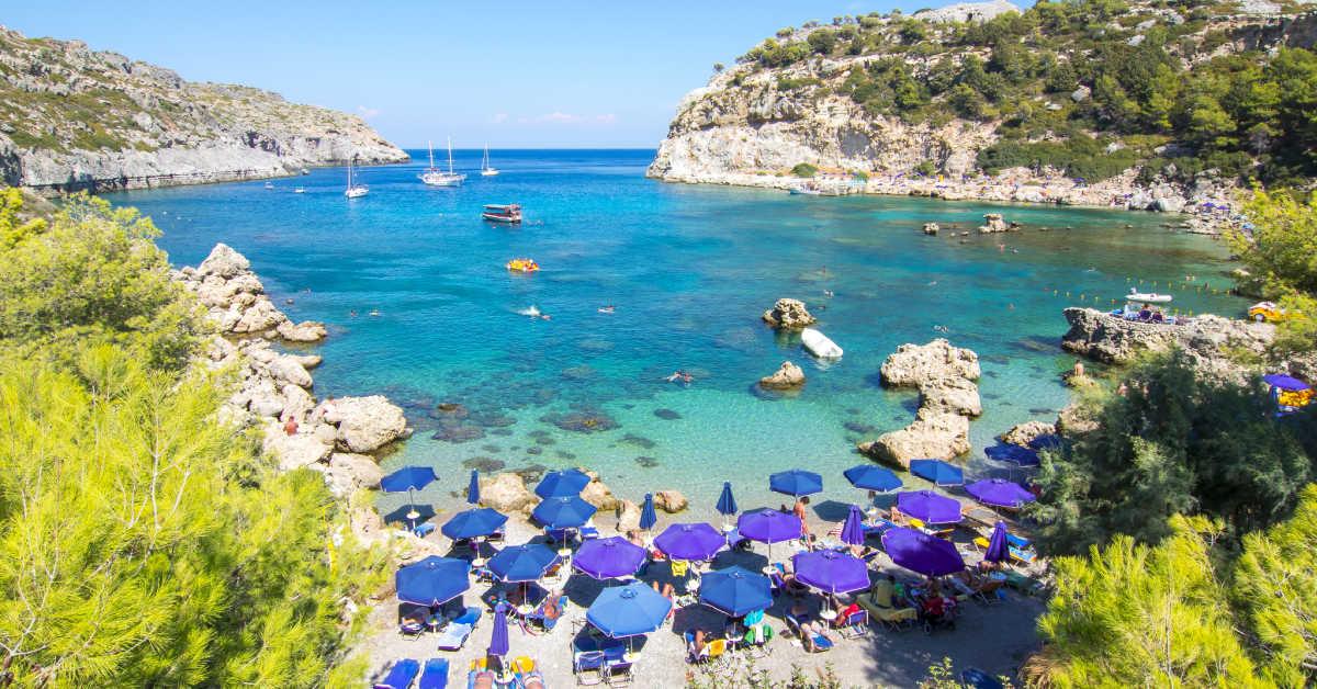 Greece Rhodes Anthony Quinn Bay