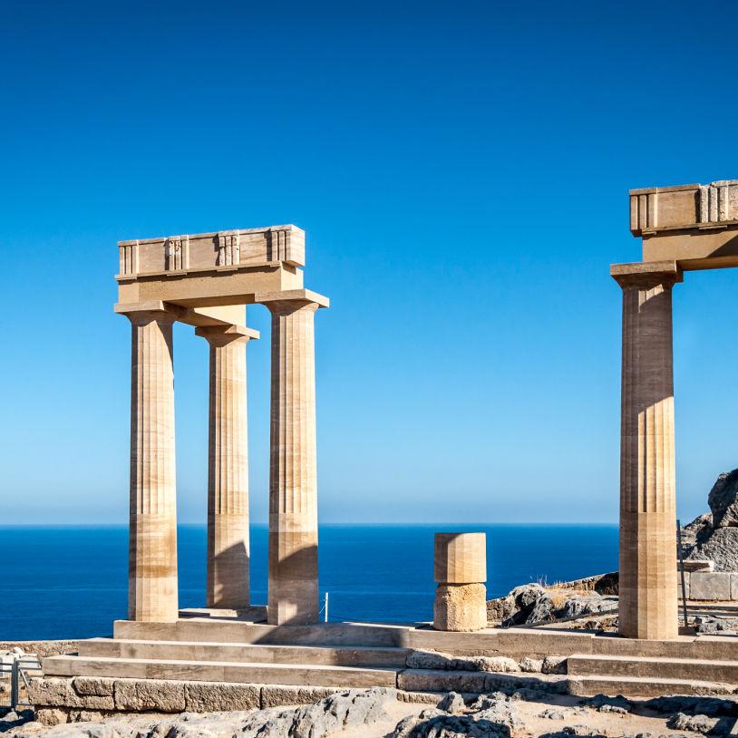 Greece Rhodes Lindos Columns
