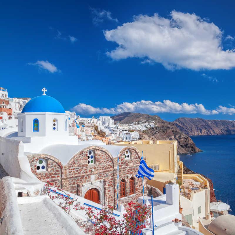 Greece Santorini Oia View of Waters