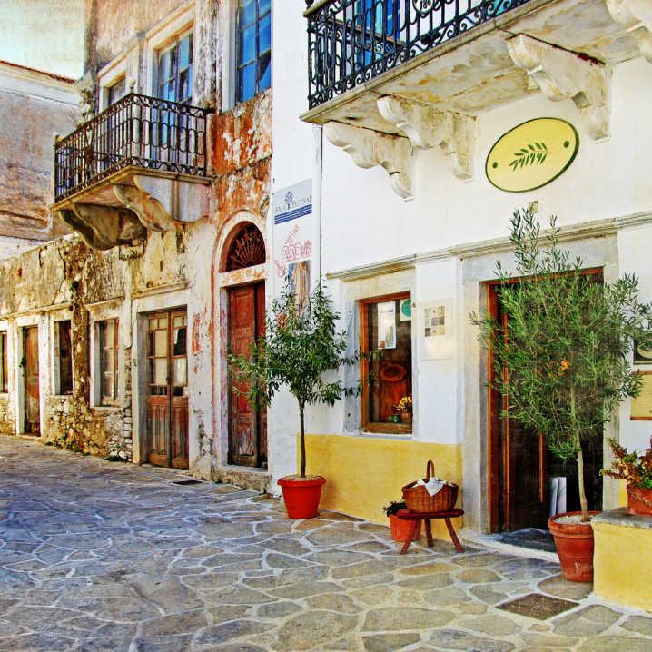 Greece streets Shops Vintage look
