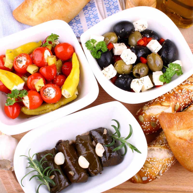 Greek Food Various Stuffed Leaves