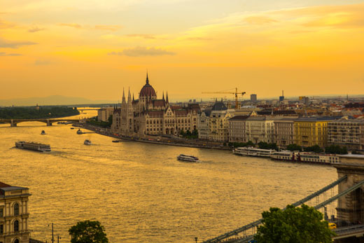 Hungary Budapest Parliament and Danube