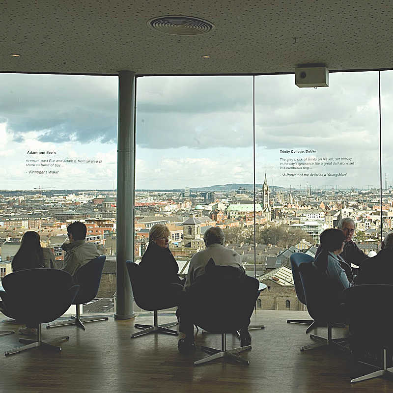 Guinness Storehouse - Tourists enjoying the view from the Gravity Bar