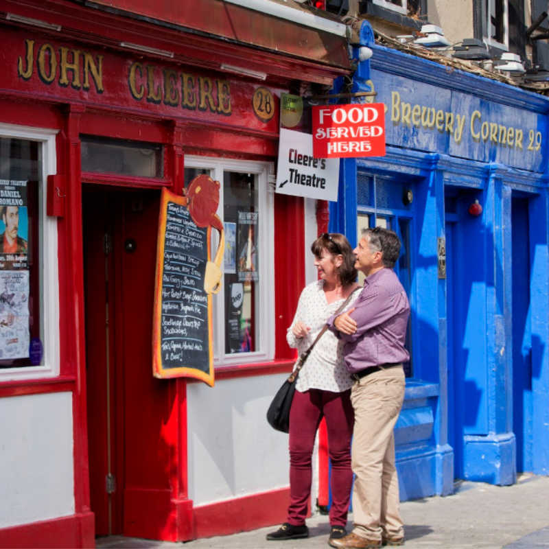 colourful shop fronts in the midieval city of Kilkenny in County Kilkenny