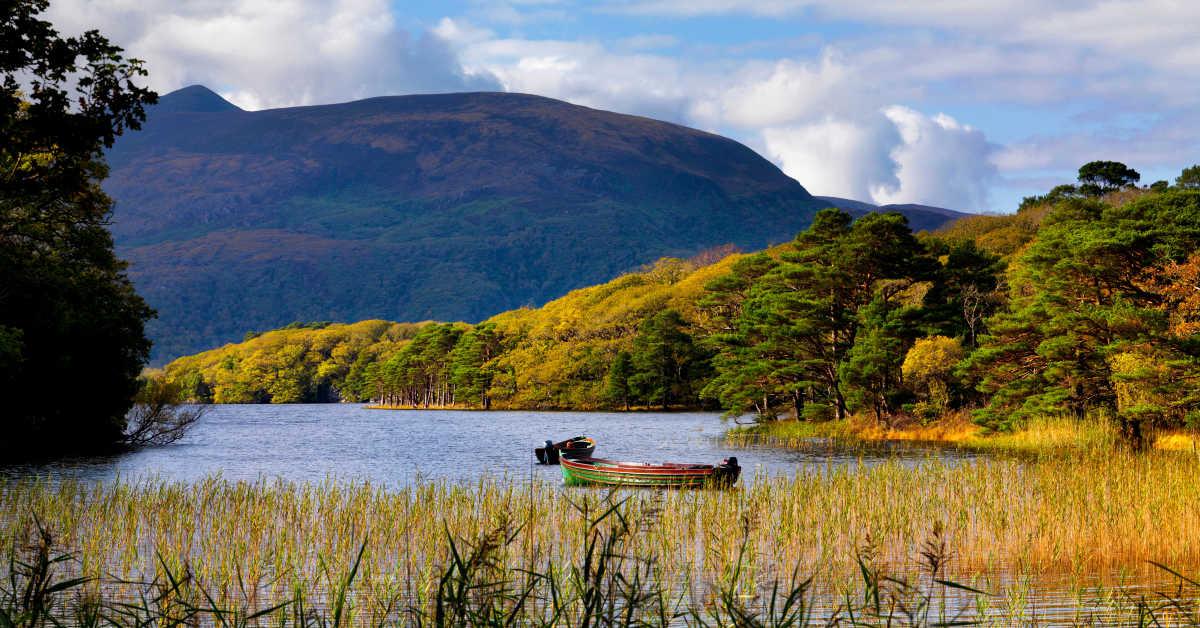 Purple Mountain over Muckross Lake,Muckross, Killarney Co. Kerry.