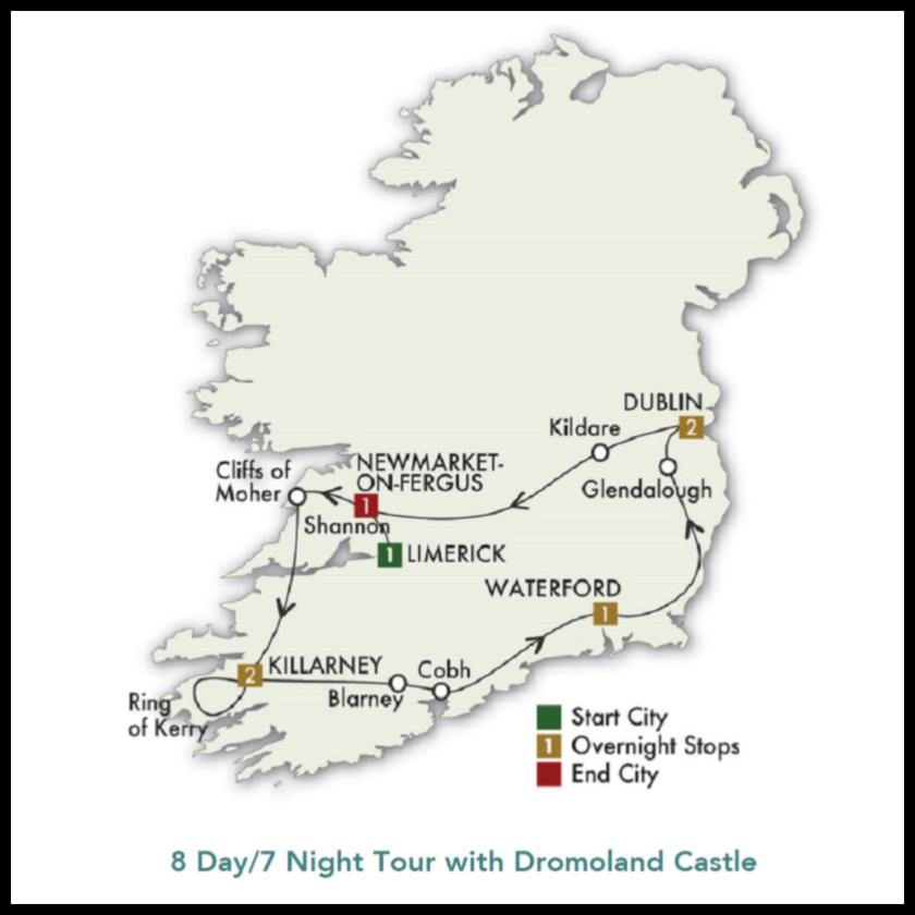 Dromoland Castle Tour Notre Dame vs Navy 2020