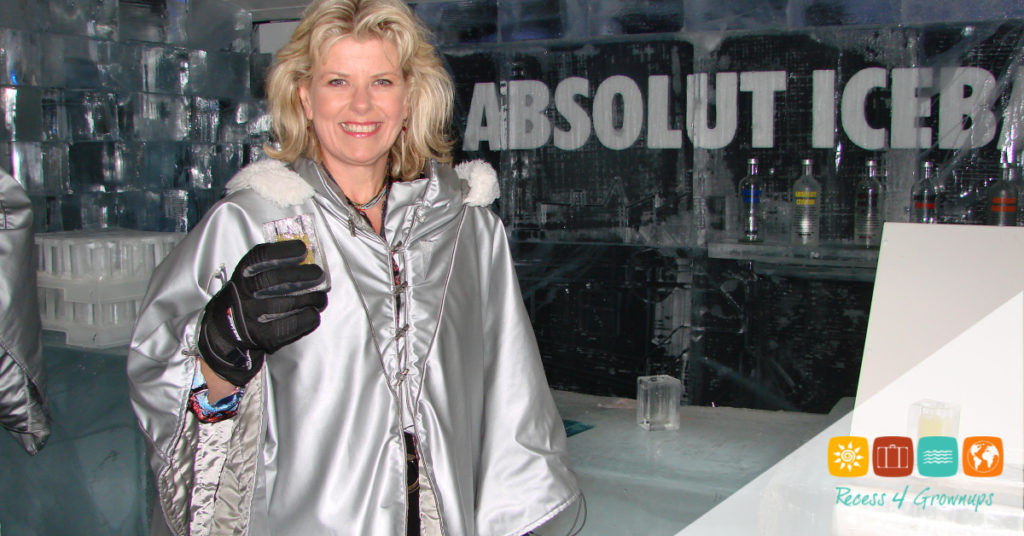 Carol in Ice Bar