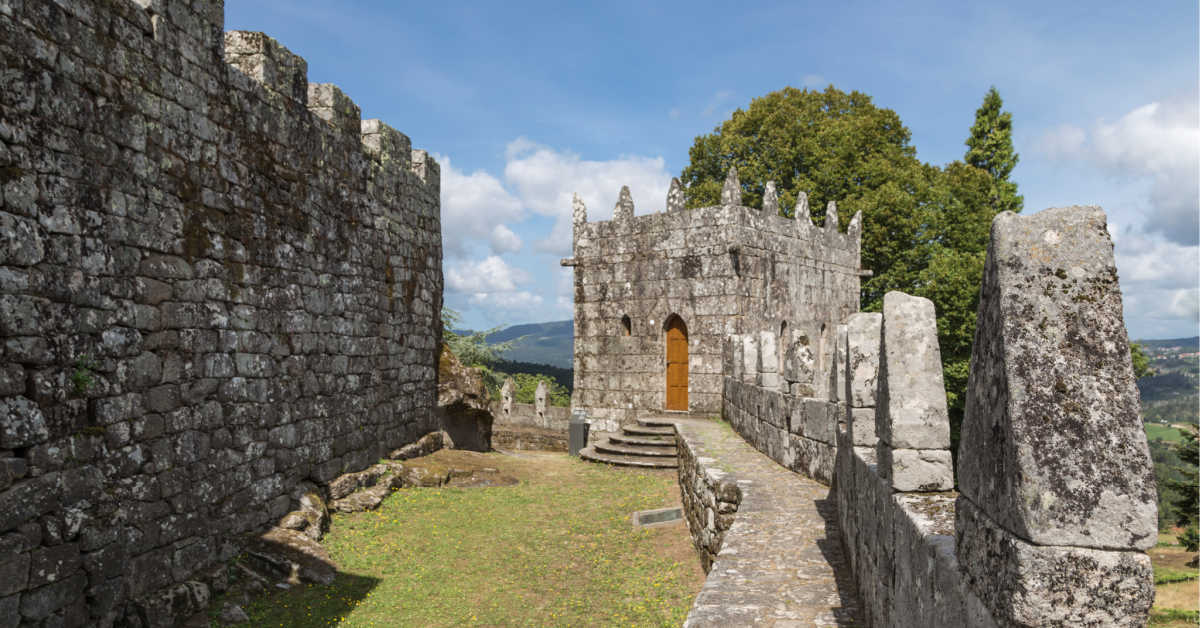 interior of the protection wall of the Sotomayor castle in pontevedra, Galicia, Spain