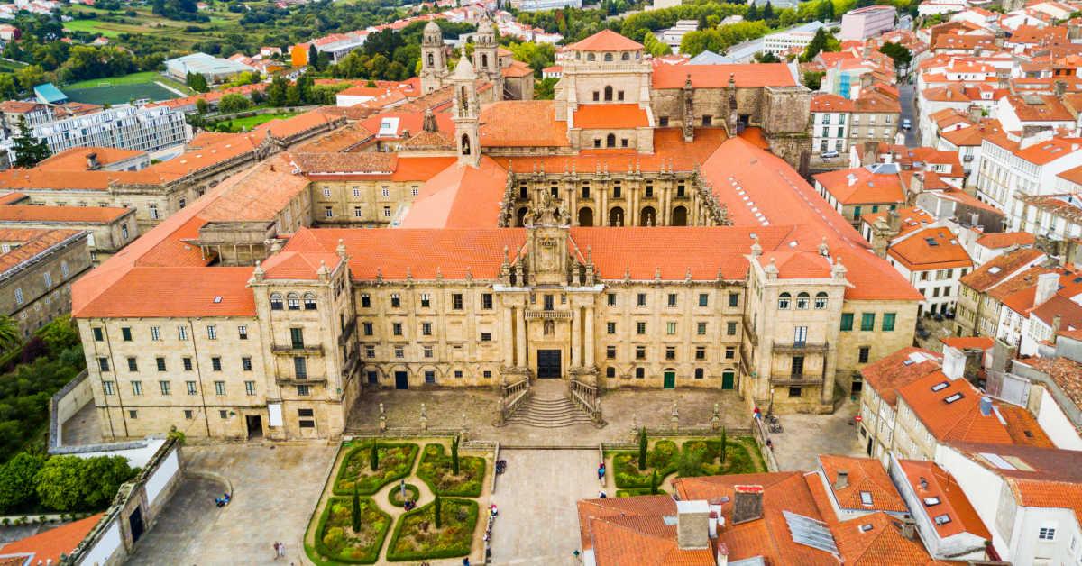 Santiago de Compostela Spain Aerial View