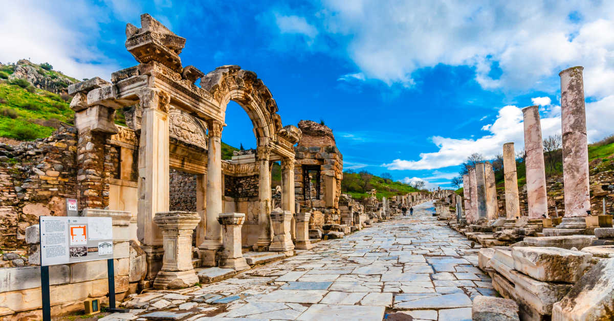 Turkey Ephesus Road Columns